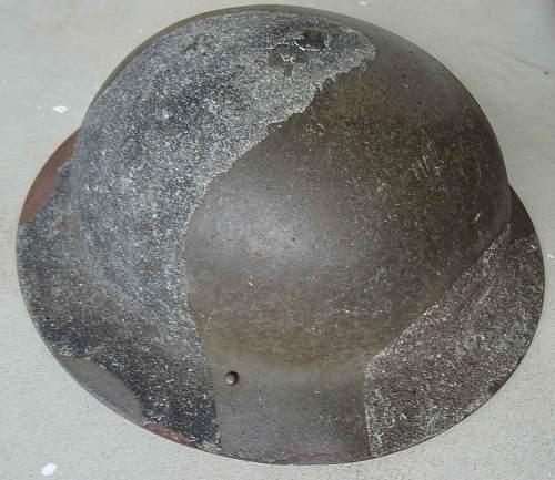 Two Australian MK2 Camoflage Helmets