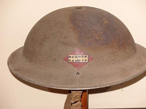 12th ANTI-AIRCRAFT DIV' HELMET