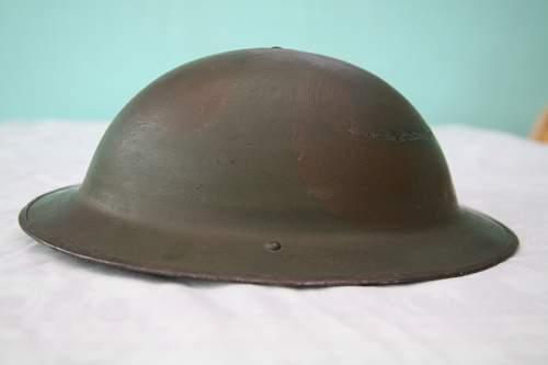 BEF camo helmet