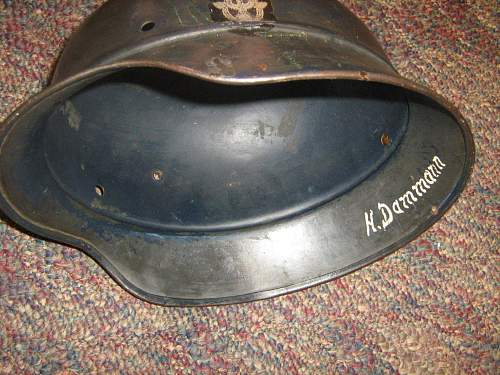 help with beaded police helmet please