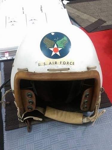 1957 Selby US Air Force Fighter Flying Pilot Helmet RARE MB-4 Amazing Condition