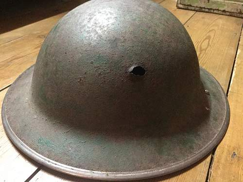 British semi relic helmet.