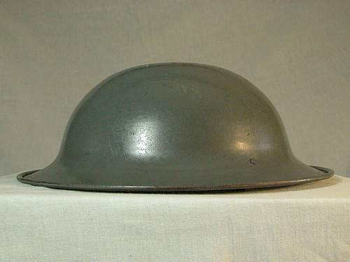 Rolled edge British helmet
