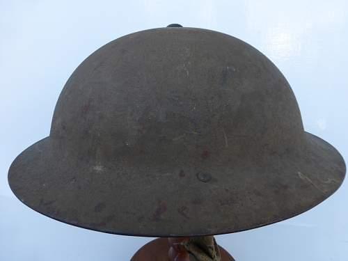 Rolled edge British helmet