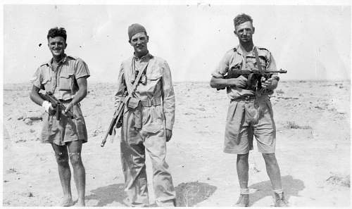 Click image for larger version.  Name:EL ALAMEIN 1942 L-R. DEAN ADAMS, LIET. GREGORY, BILL SOUTHERN.jpg Views:142 Size:217.4 KB ID:958683