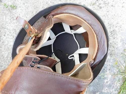 A black painted british Dispatch riders helmet?