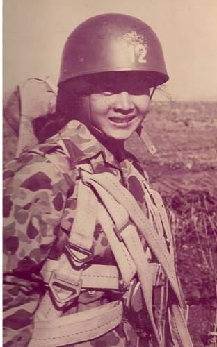 Need help to identify helmet, probably derivative from British paratrooper helmet