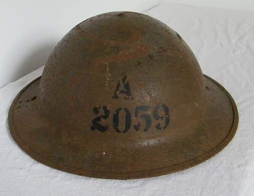 Click image for larger version.  Name:A  2059 marked Tommy helmet.jpg Views:4 Size:139.1 KB ID:966821