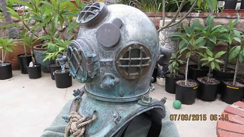 WWII Navy Mark Five Diving Helmet 8-43