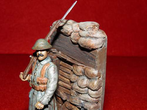 Soldier from wwi in a trench