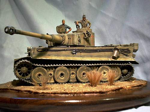 Tamiya 1/35th scale Tiger 1 initial production, Africa 1942.