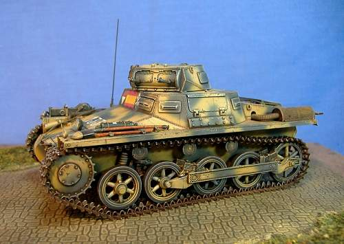Panzer 1 Ausf A Early production, Spanish civil war.