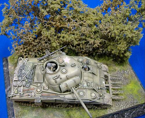 1/48th U.S. M4 Sherman with hedge plough, Normandy 1944.