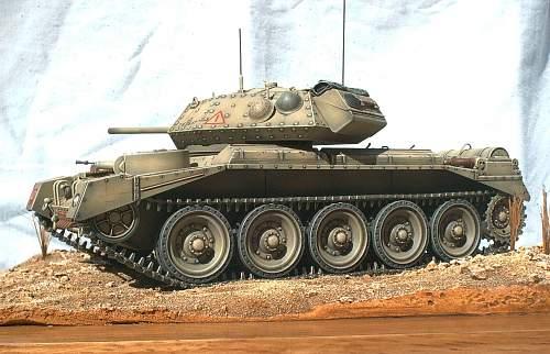 1/35th scale British Crusader mk II, North Africa.