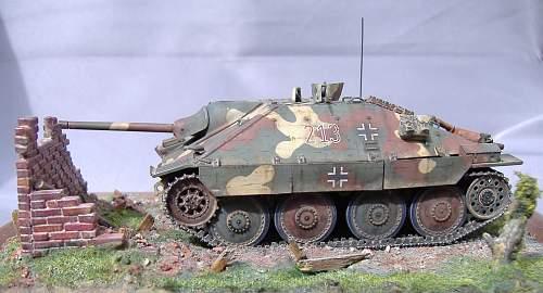 Hetzer Tank destoyer, 1/48 scale.