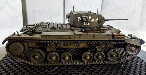 1/35 scale British Valentine in Soviet service, lend lease tank.