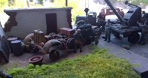 German Field maintenance in 1/35