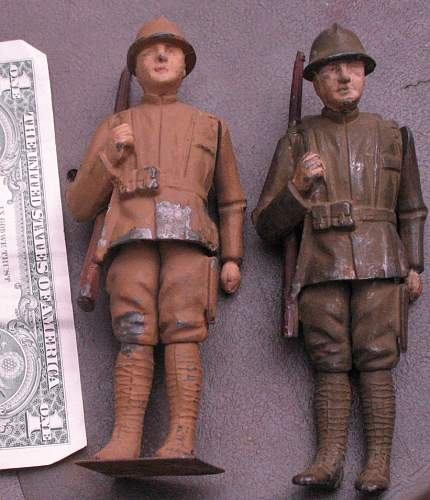 WWI Cast Iron Toy Soldiers What Country