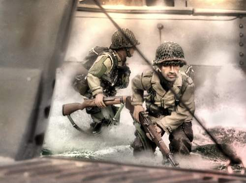 D-Day Diorama from THE GREAT CRUSADE Mini-Series by BATTLE SCENE PRODUCTIONS