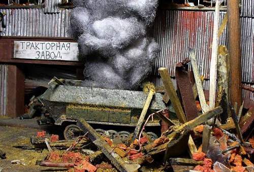 Scratch Made WWII Winter Diorama