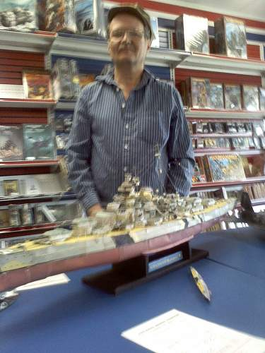 My 1/ 250th scale paper model of the BISMARCK
