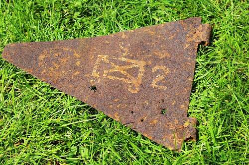 Relic Division Ident. pennant I think 2nd Motorized Infantry Division, but how if it was dug in Kurland ??