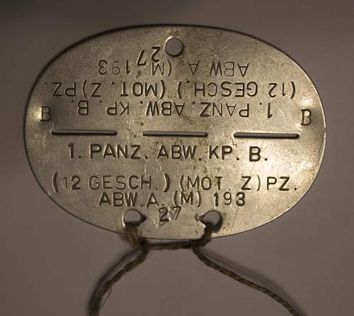 Need help identifying the information on this German Dog Tag