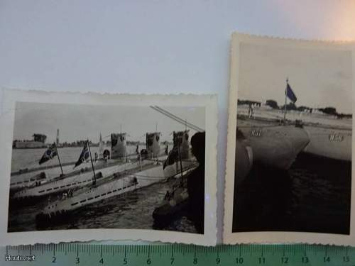 Original photos of  U56, U57, U58 and 59 in harbour