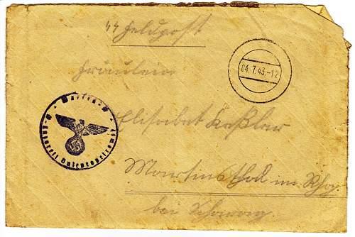 Waffen SS Letter