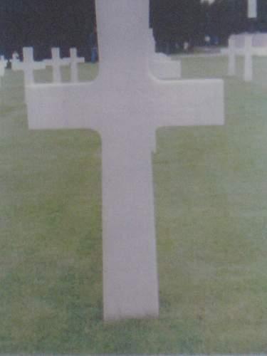Click image for larger version.  Name:1LT Jay V  Thomson grave marker  Normandy American cemetery St  Laurent-sur-Mer France.jpg Views:111 Size:203.6 KB ID:31190