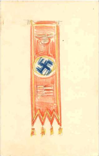 Click image for larger version.  Name:A sketch by Hitler of the Nazi party banner.jpg Views:200 Size:16.2 KB ID:315425
