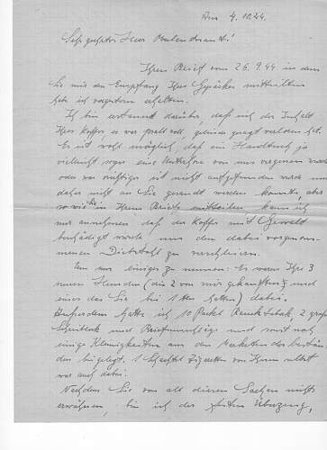 Need help to translate a letter, german to english