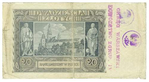 A question relating to stamped banknotes.