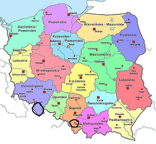Southern Poland Map.I Need Some Information Regarding Battlefields In Poland