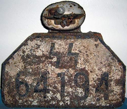 SS Demjansk License plate