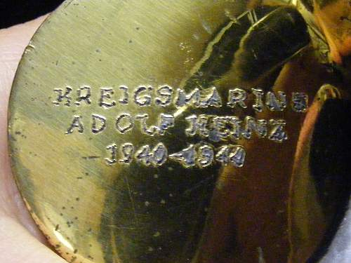 kriegsmarine Adolf Heinz