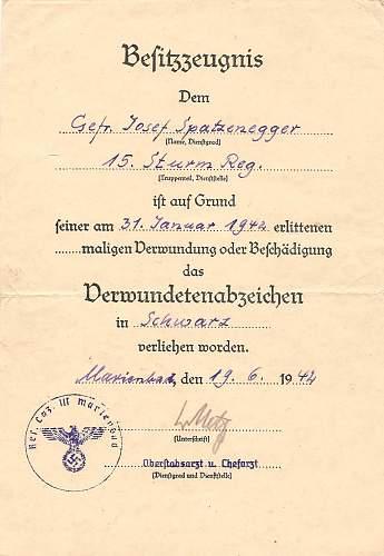 Click image for larger version.  Name:Josef Spatzenegger 15.Sturm-Regiment 002.jpg Views:117 Size:178.1 KB ID:583681