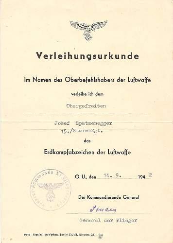 Click image for larger version.  Name:Josef Spatzenegger 15.Sturm-Regiment 005.jpg Views:347 Size:137.8 KB ID:583684