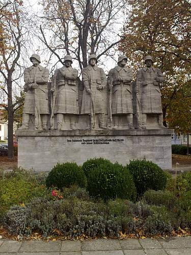 for the memory of 118. Inf. Division in the city of Worms in Germany
