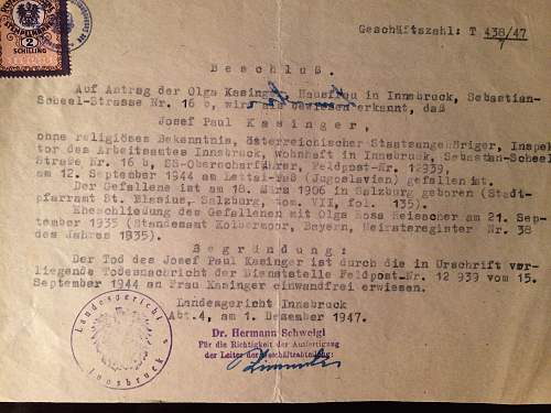 My great grandfathers death card. Need help idenifying if he was in the Panzer Crops.