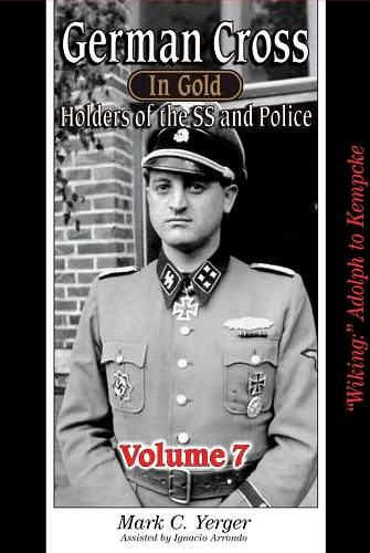 German Cross in Gold Holders of the SS and Police vol. 7