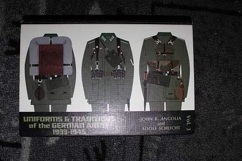 diverse books on militaria