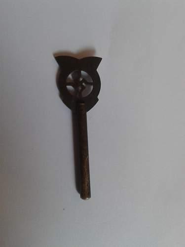 WW2 nazi pin or something.
