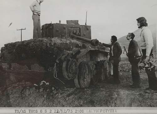 Cromwell Tank excavated in Greece... 1975 picture!