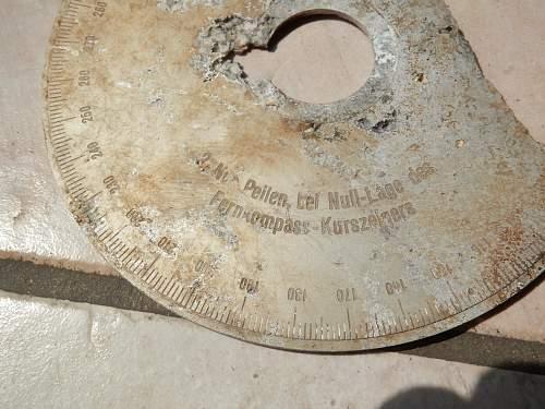 Fernkompass from luftwaffe crash site