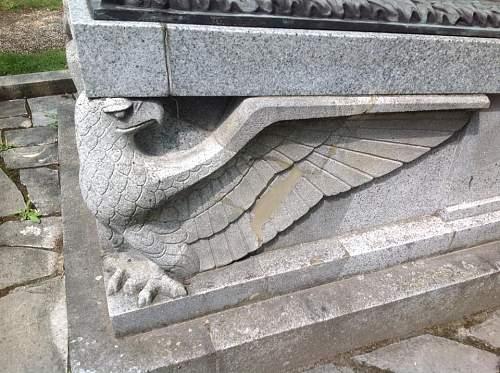 Photos of German soldier's graves in Berlin