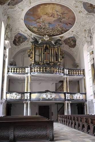 Schlosskirche (Castle church), Ellingen, Bavaria. 24 April 1945.