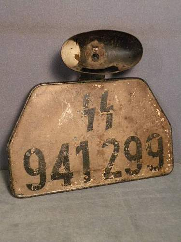 SS rear license plate
