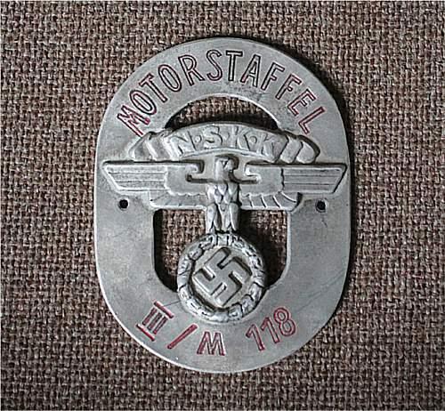 N.S.K.K. badge.... real or not??