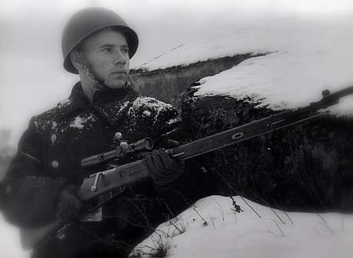 """Battle of Hanko (1941). The famous sniper Grigori Isakov"""